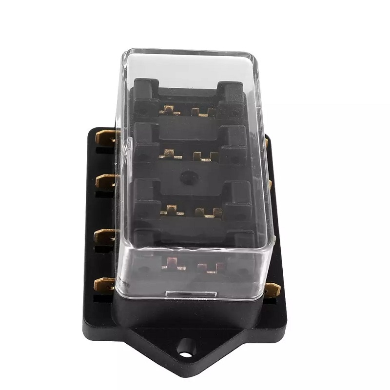 4 way car truck fuse box holder fuse block with standard fuses for car truck boat vehicle