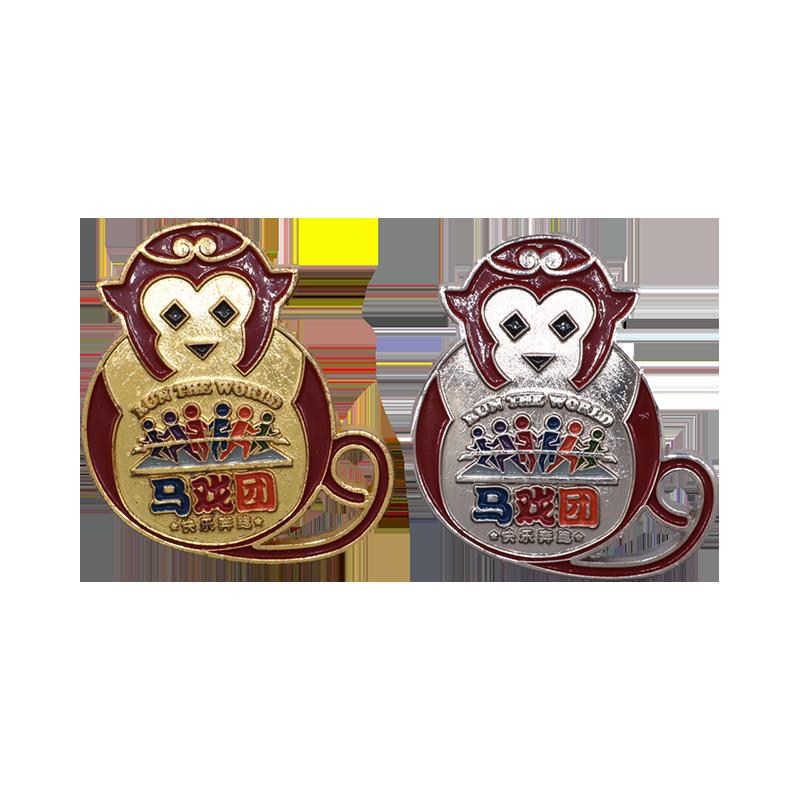 马戏团猴子徽章