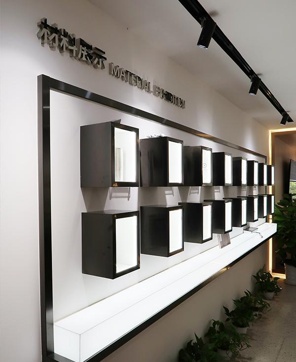 加装展厅材料展示区