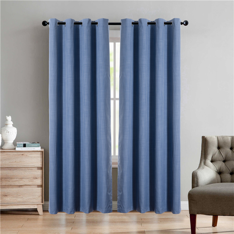 Blackout cationic curtain
