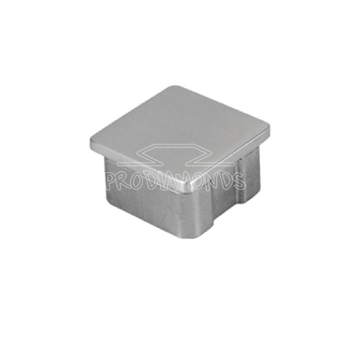 Square top handrail end cap