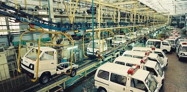 长安公司十万辆微型汽车总装线