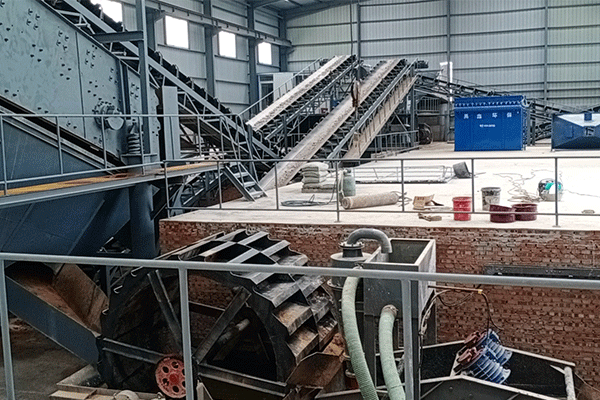 山東萊陽100噸每小時風化石制砂生產線