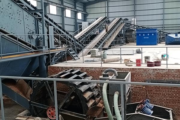 山东莱阳100吨每小时风化石制砂生产线