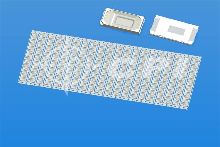 LED5730-14排斜杯支架白膠方杯杯深0.43總高0.80 (14X20)  (E07221A)