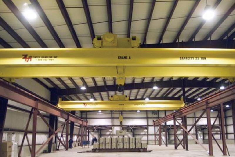 南京江寧自來水總公司電動單梁懸掛起重機安裝