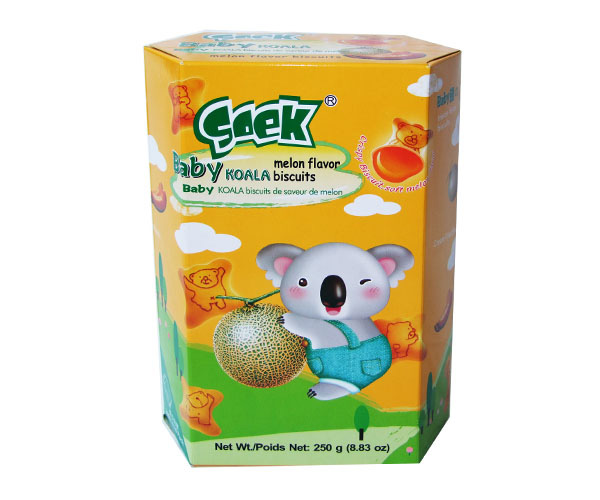 Baby Koala Cream Filled Biscuits Melon Filling 250gX12boxes 55X33X23cm