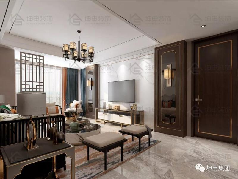 坤申设计 | 一抹写意,几许禅意,123m2新中式设计诠释东方美学