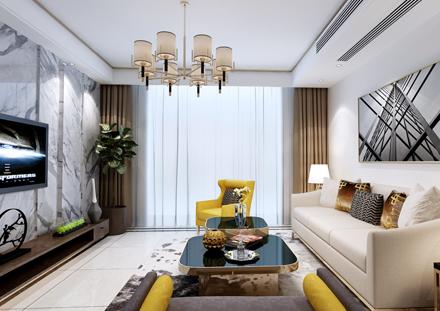 人才公寓顧先生雅居--現代輕奢風格