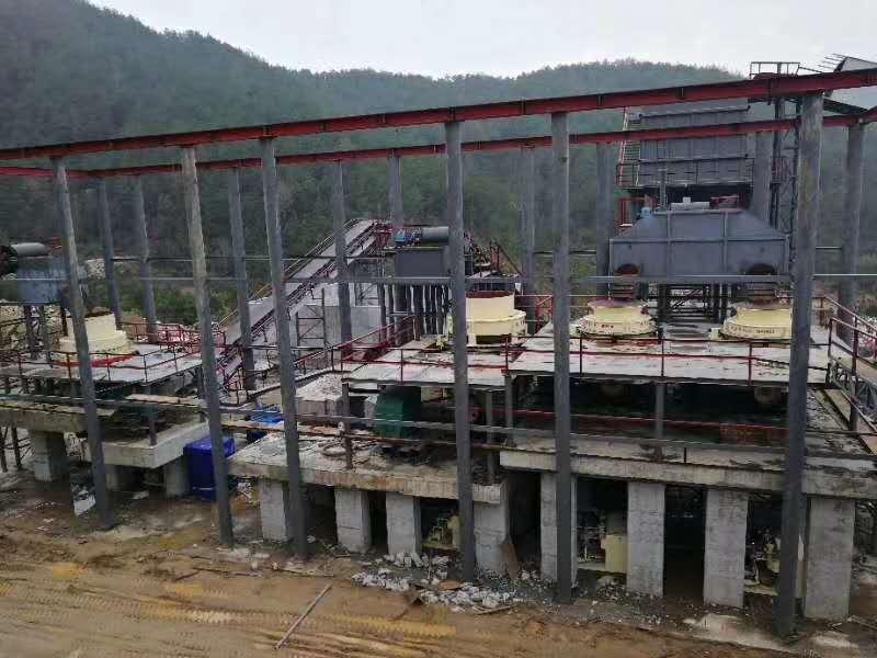 時產1000噸碎石安裝現場1