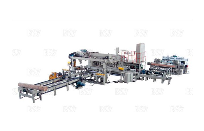 Numerical control hydraulic single card no axis rotary cutting production line