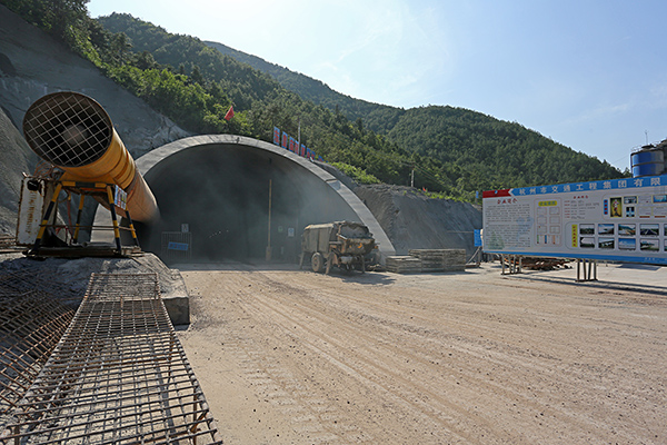 在建的东皇庙隧道