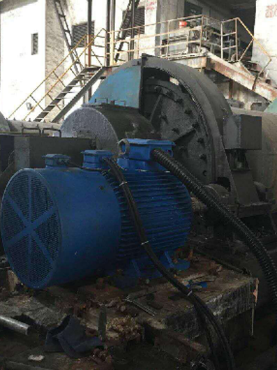 Permanent Magnet Motor for a mining ball mill