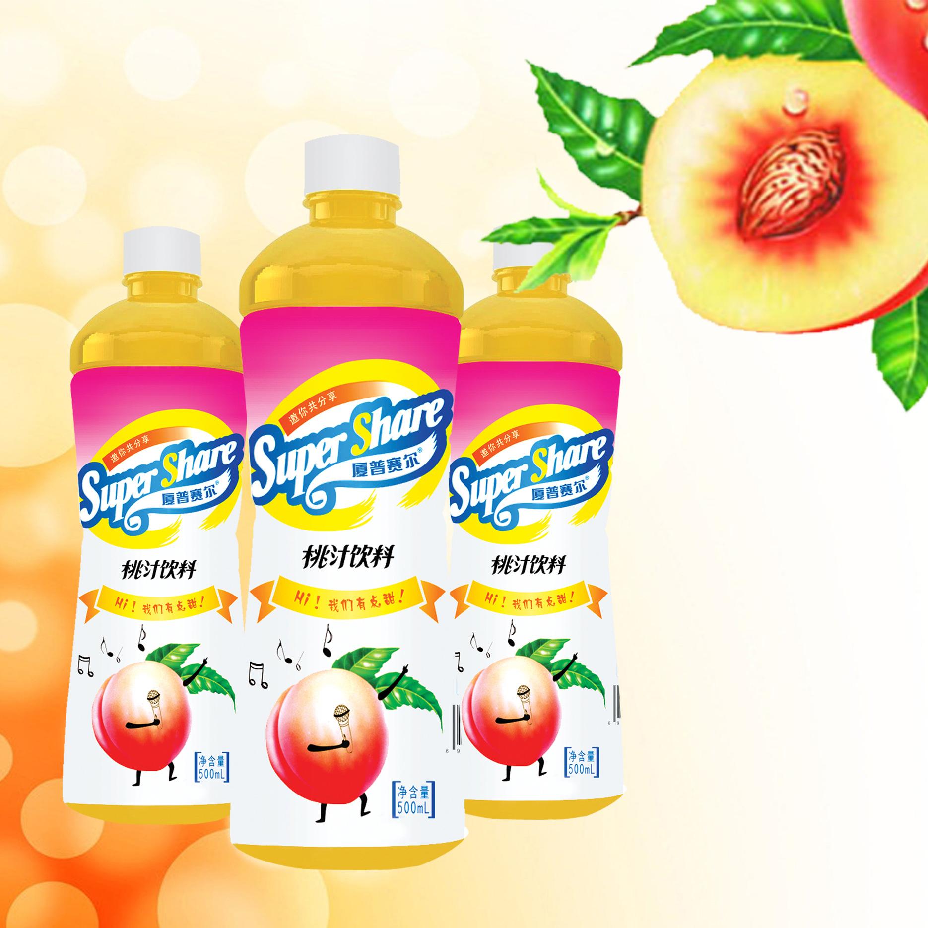 500mL桃汁飲料