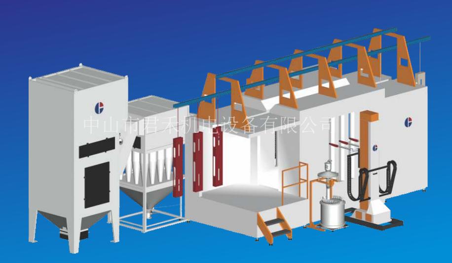 工程塑料板多管小旋風二級回收噴房系列