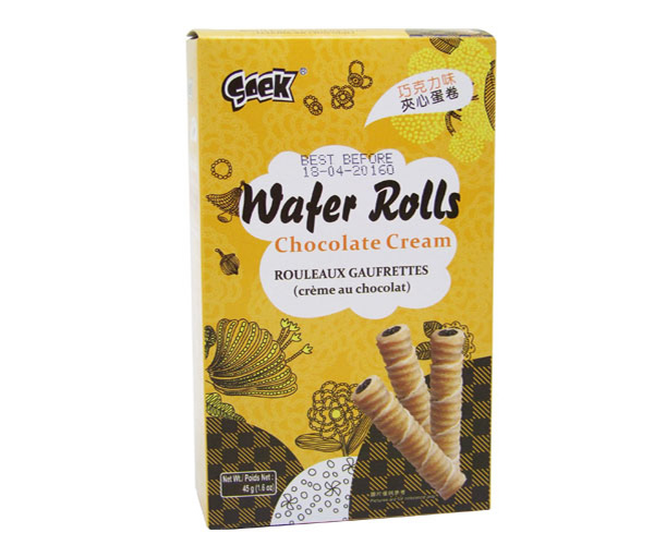 Wafer Rolls(Chocolate flavor)45gX36boxes