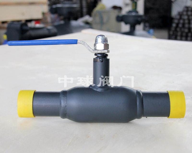 Handle type fully welded ball valve Q61F DN32