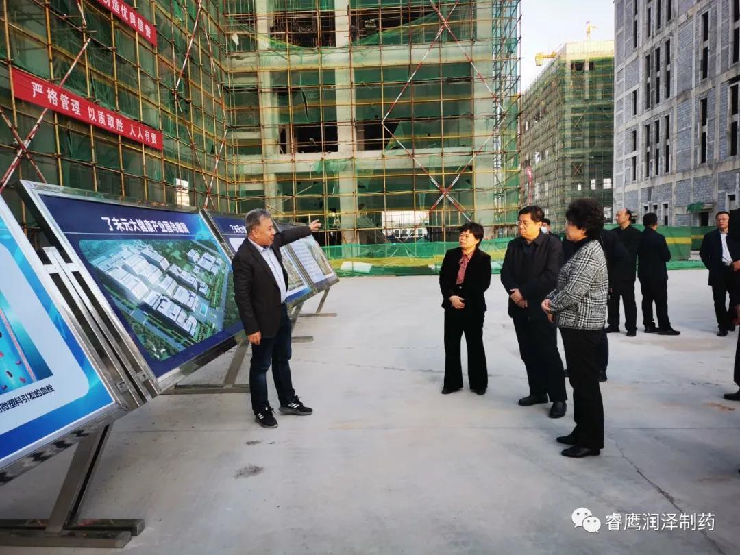 副市长侯婕到睿鹰集团高新区大健康产业园调研