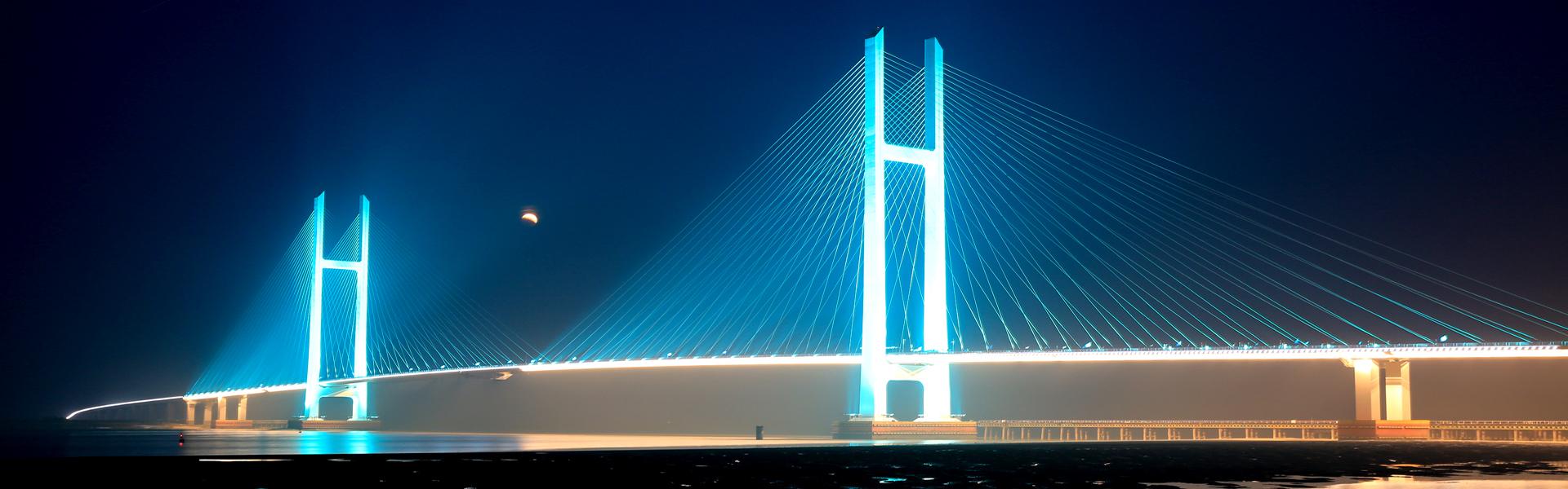 中朝边境鸭绿江大桥亮化工程