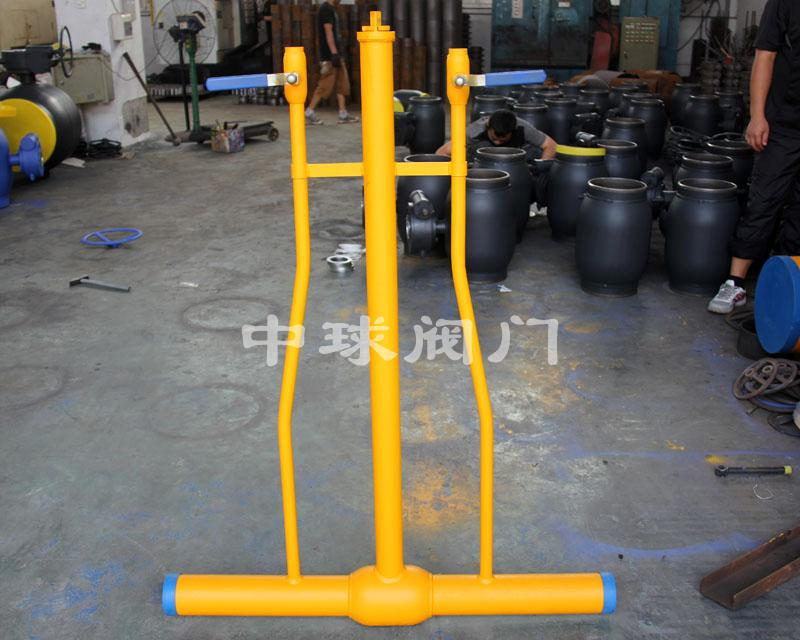 Dispersed fully welded ball valve 02