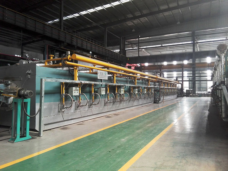 Bright annealing line for horizontal looper (cold coal gas heated)