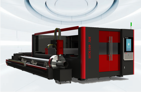 PLATE AND TUBE INTEGRATED FIBER LASER CUTTING MACHINE (HY-4015GH)