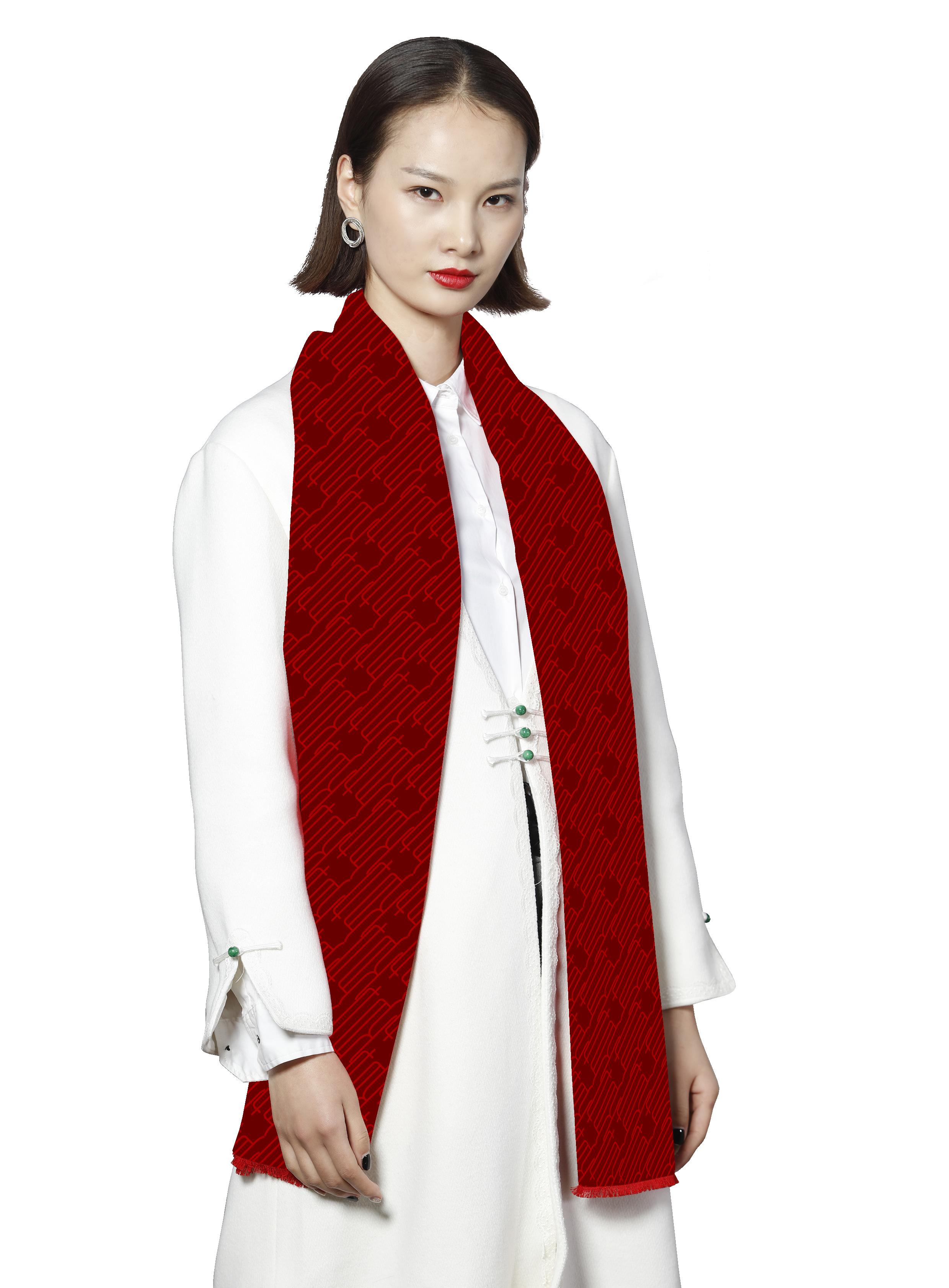 北京大學之120周年慶拉毛圍巾