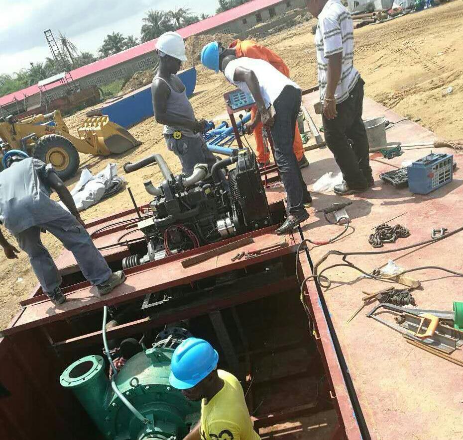 射吸式抽沙船发往西部非洲利比里亚