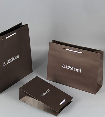 a.testoni Custom Paper Clothes luxury Shopping Bag