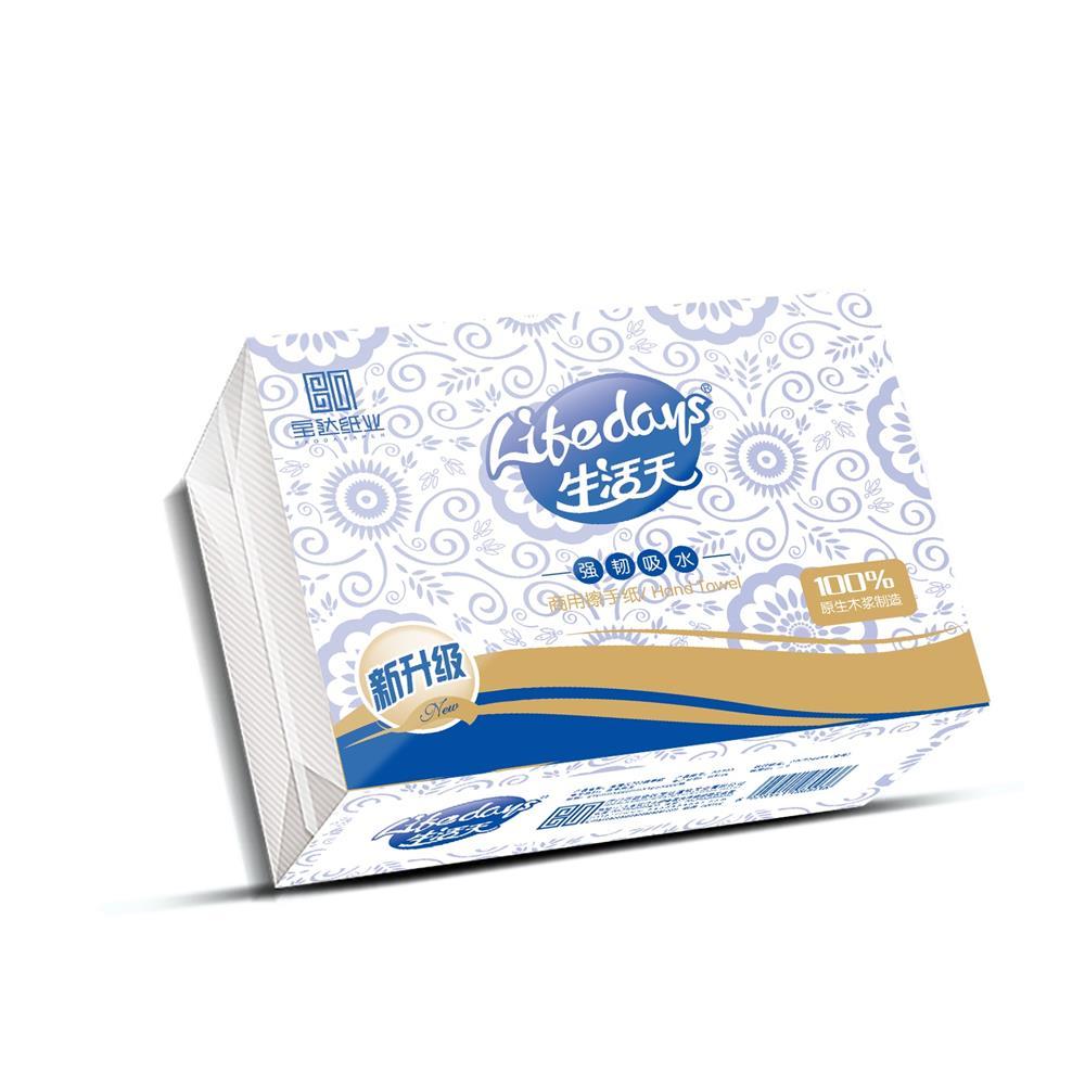 生活天BS703 商用擦手紙200抽 原生木漿紙 強韌吸水