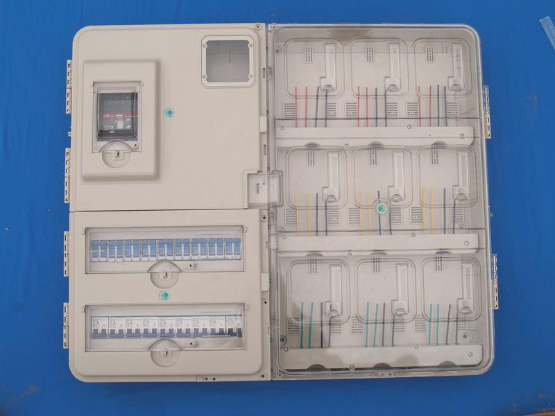 透明PC左右結構帶采集9戶電表箱