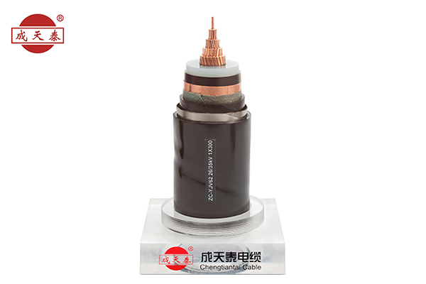 Copper core, XLPE insulated poly, copper tape shield, PVC sheathed power cable