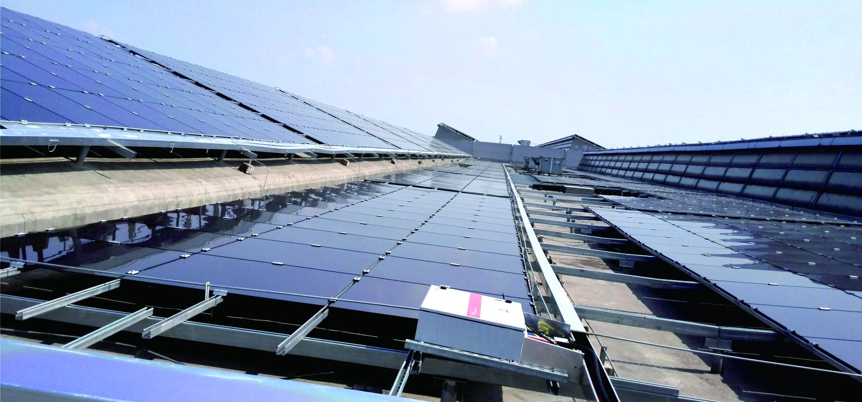 廣東省惠州市TCL2.82MWp光伏屋頂發電工程