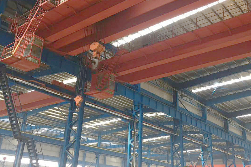 常州中天鋼鐵50T/25T/20T橋式電動雙梁起重機安裝
