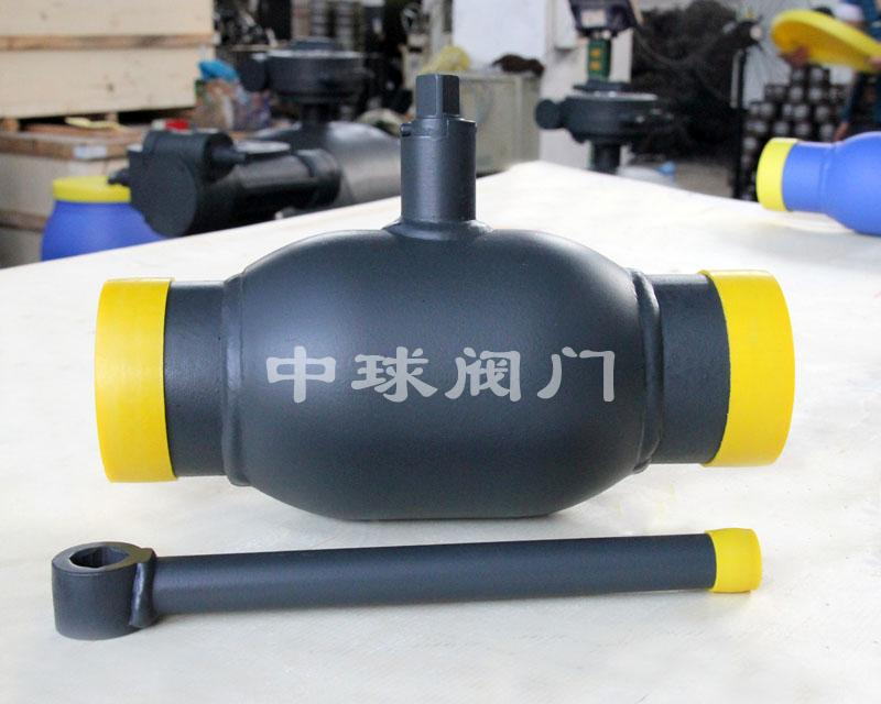Handle type fully welded ball valve Q61F DN80