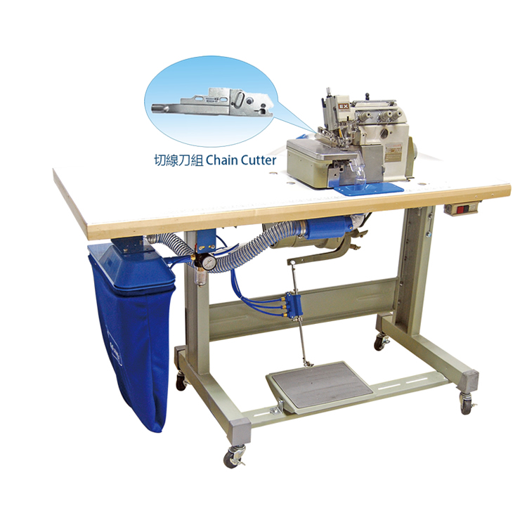 3 Ways Pneumatic Suction Chain Cutter Device With over-lock Machine (PEGASUS)