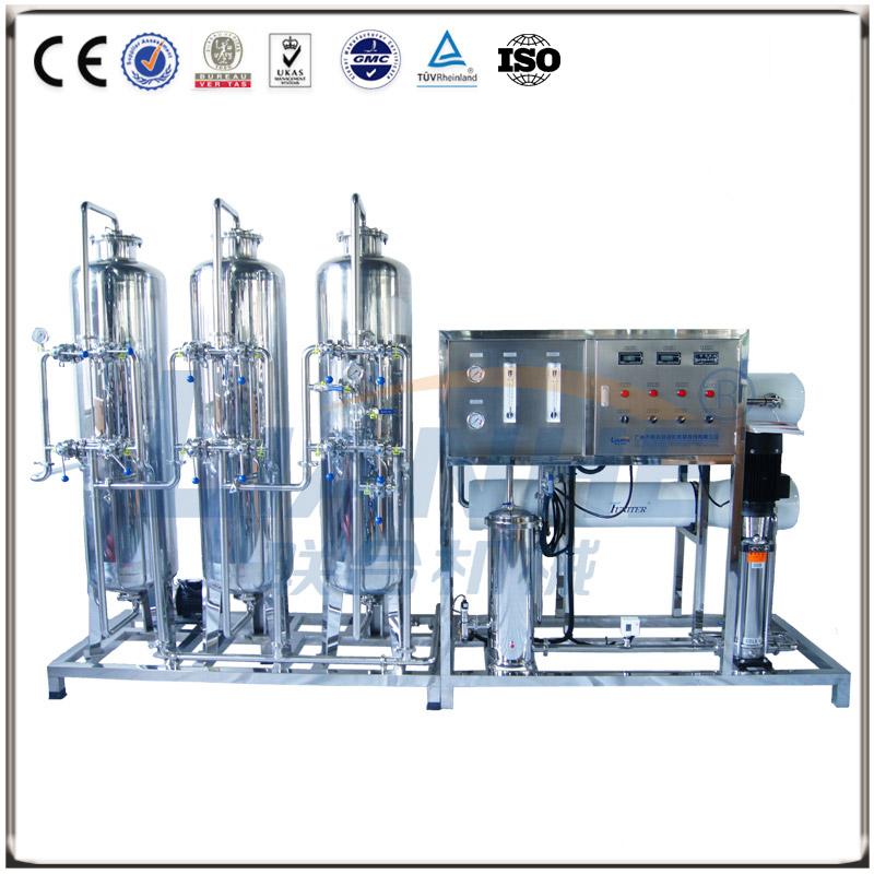 2T/h一级反渗透水处理(不锈钢三柱,手动阀)
