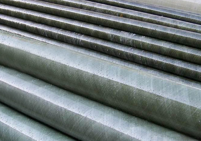 Steel tube outer glass steel