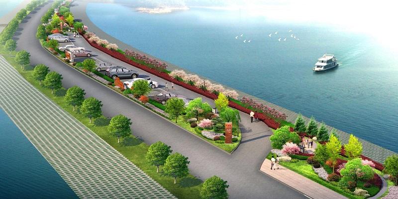 褒河左岸漢江回水段防護綠化設計