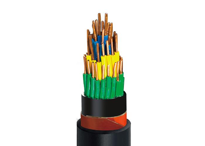 KVV22 聚氯乙烯絕緣聚氯乙烯護套銅帶屏蔽鋼帶鎧裝控製電纜