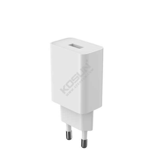 12W Single USB Port European Wall Charger