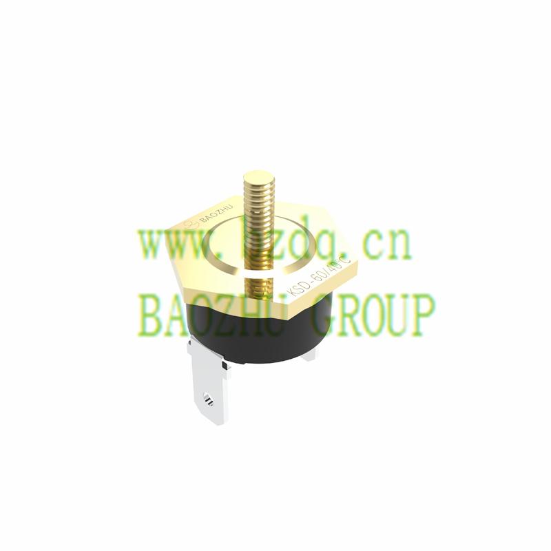 KSD自動復位突調式溫控器-螺栓頭裝配