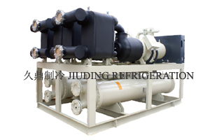 Efficient screw water chilling unit of medium and low temperature