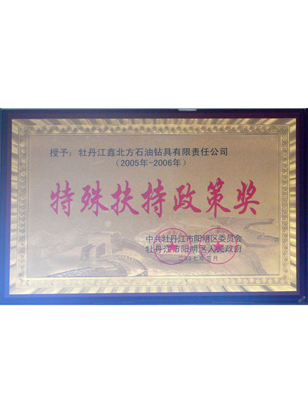 Special Support Policy Award