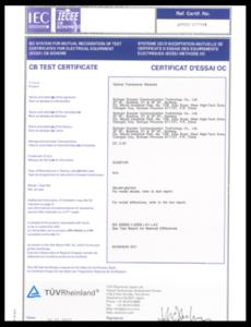 Transceiver: IEC/EN 60825 and CB