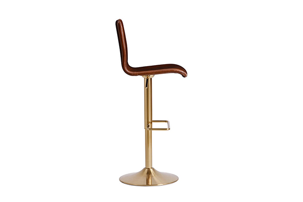 Brass swivel bar chair stool with foot rest 1580k g