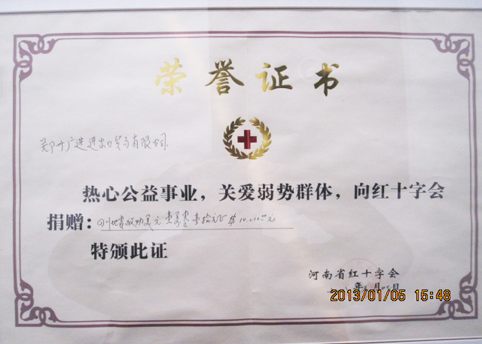 Wenchuan donation