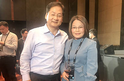 With Samsung China President - Cui Tie