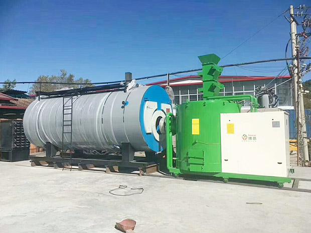 360萬大卡-木片燃燒機-配套燃氣鍋爐用于食品加工-承德