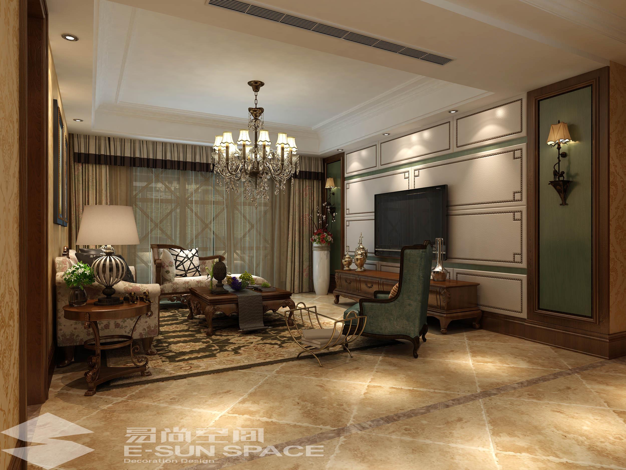 人才公寓200平方--美式風格